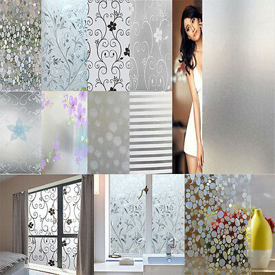 Waterproof Glass Frosted Home Bathroom Door Window Privacy Decor Diy Sticker LGC