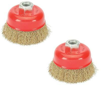 2 x 3 in. x 5/8 in.-11 Threaded Arbor Coarse Crimped Wire Cup Brush