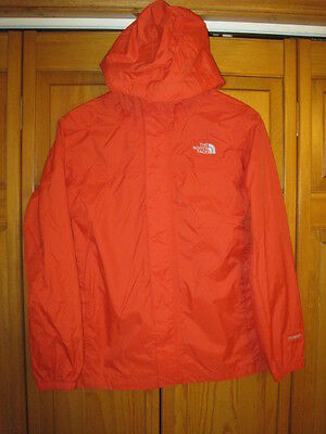 The North Face Hyvent waterproof rain jacket boys L 14/16 orange hiking camping