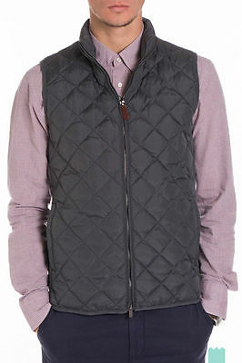 New €149 SCOTCH & SODA Size 50 / M Men's Down Full Zip Quilted Gilet Vest