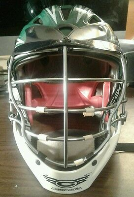 Cascade CPX Lacrosse Helmet, Green and White