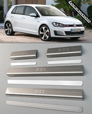 VW Golf Mk7 GTi (released approx 2013) 4 Door Sill Protectors / Kick plates