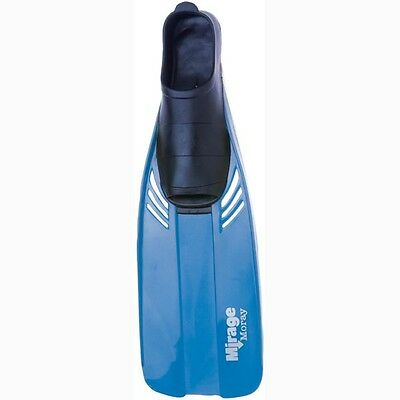 Mirage Moray Rubber Snorkeling Fins Flippers Adult-Blue-S =3-5 = 36-38