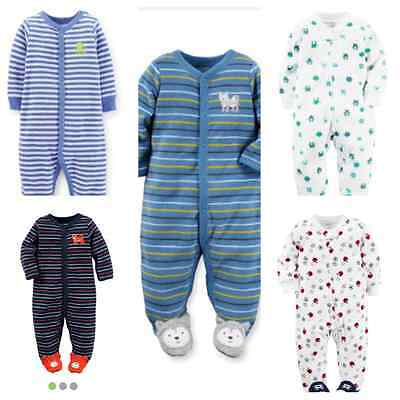 Nwt*carter's* Baby Boy French Terry Footed Pajama (Newborn,3M,6M,9M)