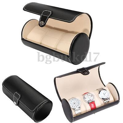 3 Slots Watch Travel Case PU Leather Jewelry Storage Box Collector Organizer AU