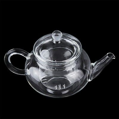 Heat Resistan Glass Teapot With Infuser Coffee Tea Leaf Herbal Pot 250ml E6