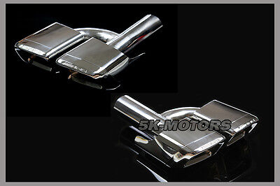 Quad Exhaust Pipe Tips Muffler Tips For Mercedes Benz W210 W207 W211 W212 E63