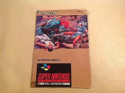 Street fighter 2 snes manual only