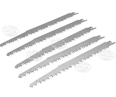 5 x Reciprocating Wood Saw Blades High Carbon Steel 240mm Sabre For Bosch Makita
