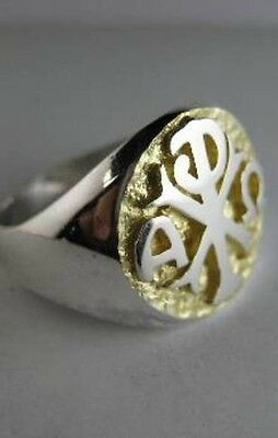 Solid silver ring for Bishop and Priest - 24452