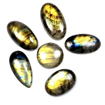 196 Ct. 6 Pc Aaa Blue~Fire Natural Labradorite Fancy Cabochon Gemstone A 28241