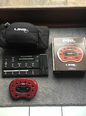 line 6 pod xt Guitar Effects With Pedal Board