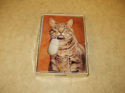Set of 12 Blank Cat Note Cards & Envelopes(computer mouse,mouse,feline,kitty,