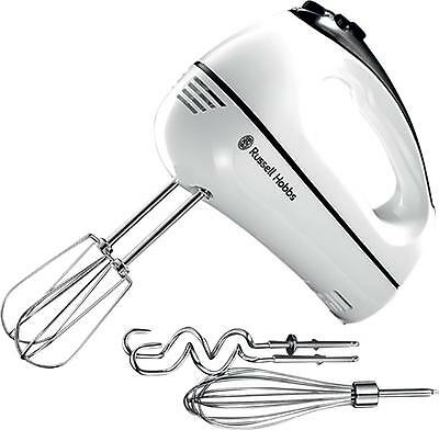 Russell Hobbs 18965 Aura 3-in-1 300w Hand Mixer: Beaters Dough Hooks & Whisk