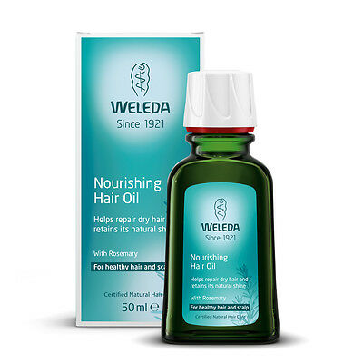 Weleda Nourishing Hair Oil with Rosemary 50ml treatment Repair Dry scalp