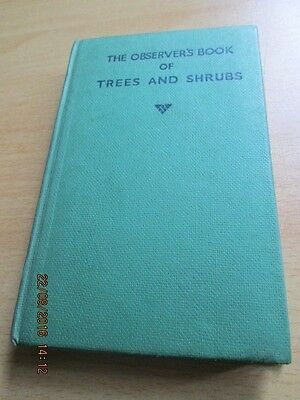 The OBSERVER'S HARDBACK BOOK OF TREES AND SHRUBS.177 ILLUSTRATIONS.GOOD COND (S)