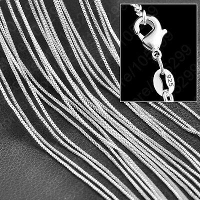 """UK Seller 18"""" Women's Ladies 925 Silver Box Chain Necklace 1.5mm"""