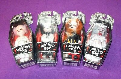 4 Rare Mezco Living Dead Dolls Minis - Series Complete, Key Ring  Chain,
