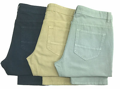 New Men's Ex-M&S Lightweight Linen Blend Jeans Style Trousers (Cut label) MS27