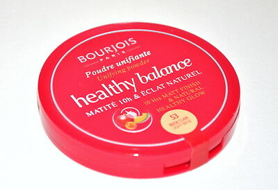Bourjois Healthy Balance Unifying Pressed Powder  natural and mat finish 10h
