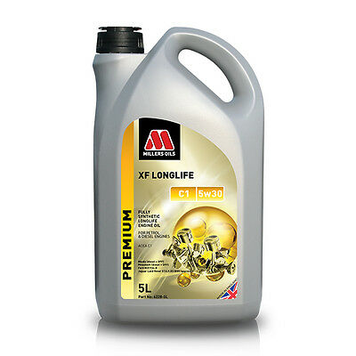 Millers Oil XF Longlife C1 5w30 Fully Synthetic Engine Oil 5Ltr