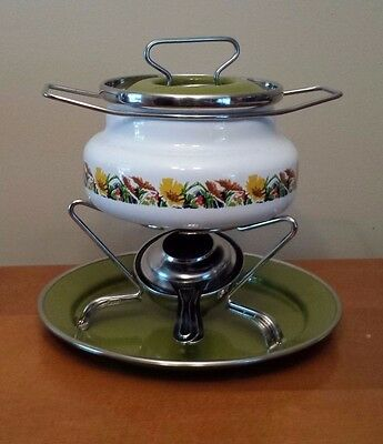 BOURGUIGNONNE SILTAL Fondue Pot with Burner in Box - Made in Italy