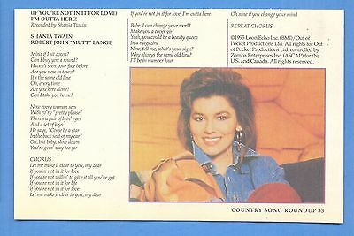 Shania Twain, Country Music Star in 1996 Magazine Print Photo Clipping