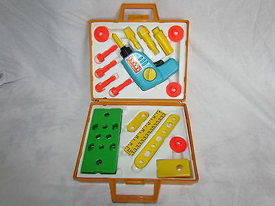 Vintage Fisher Price Tool Kit Circa 1970's Complete Working Excellent Condition