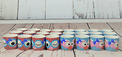 CLEARANCE Bulk Sale Coffee & Tea Ceramic Mugs Home&Office Owls RRP£230 48pcs