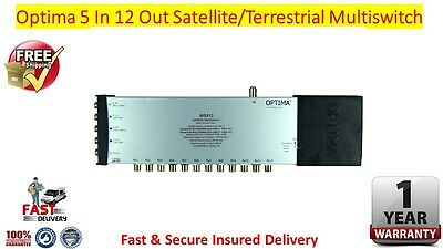 Optima 5 x 12 4K/3D HD Ready Satellite & Terrestrial Multiswitch FREE P&P