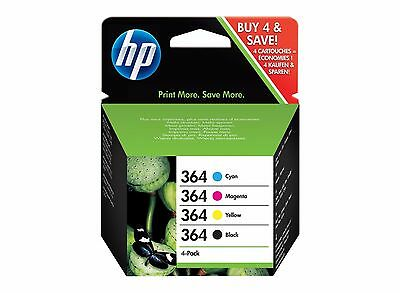 Pack 4 cartuchos HP 364 Original Negro + Colores N9J73AE