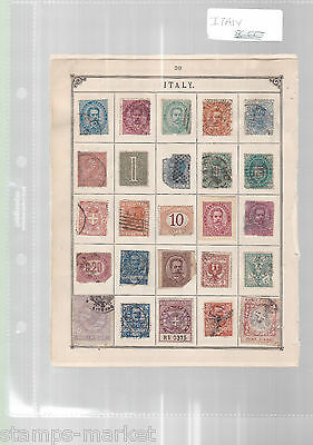 Italy  Stamps On Old Album Pages  , Ref 832