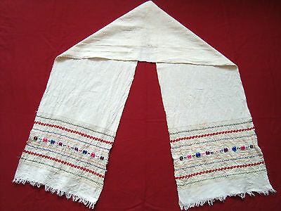 Vintage Ottoman style Hand woven Hand embroidered decorative cloth table runner
