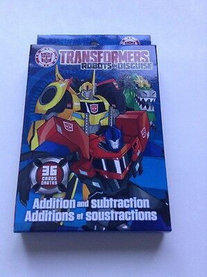 Transformers Robots in Disguise Addition And Subtraction Add Subtract Math NEW