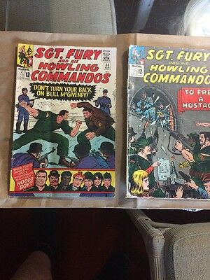 Sergeant Fury And His Howling Commandos Marvel Comics September And August 1965