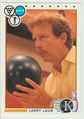 LARRY LAUB 1990 Kingpins Collect-A-Card # 52 Bowling card Hall of Fame