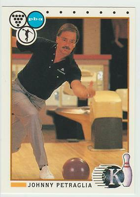 JOHNNY PETRAGLIA 1990 Kingpins Collect-A-Card # 89 Bowling card PBA Hall of Fame