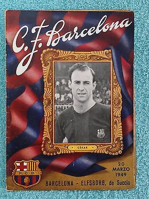 1949 - BARCELONA v ELFSBORG PROGRAMME - FRIENDLY