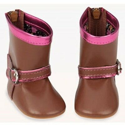 """Our Generation """"Let's Motor"""" Brown Doll Boots Shoes for 18"""" Dolls NEW"""