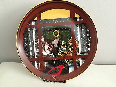 Anna Perenna-Uncle Tad's Holiday Cats Series Collector's Plate -Walter's Window