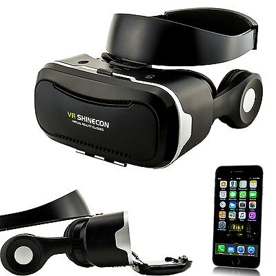 3D Headset VR Video Brille Virtual Reality für Apple iPhone 4 5 SE 6 S Plus Game