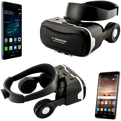 VR Shinecon 4.0 3D Headset für Huawei P10 P9 P8 Plus Mate 9 8 Nova Video Brille