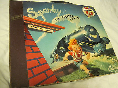 Sparky and the Talking Train 78 RPM Vinyl Capitol Records 1947 -ALBUM