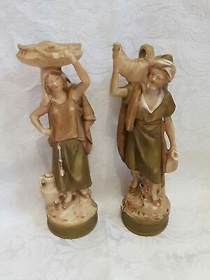 Royal Dux Water Carriers Male & Female Figurines - 1465 - c1890