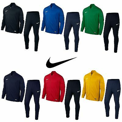 Nike Boys Tracksuit Kids Junior Football Tops Pants Bottoms Full Zip Dri Fit