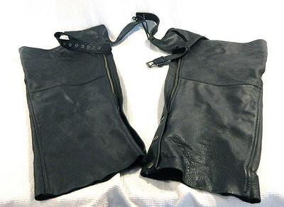 First Leather Apparel Classic Leather Gear Motorcycle Chaps Women's Size 3XL 3X