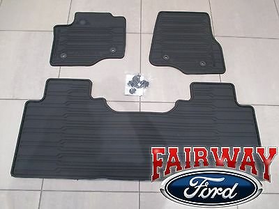 17 Thru 20 Super Duty Oem Ford Rubber Mat Set 3 Pc Extended Crew For Vinyl Floor 124 95 Picclick