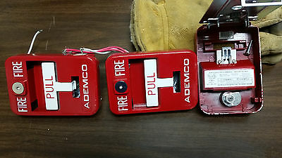 ADEMCO 5140MPS-2 MANUAL FIRE ALARM PULL STATION lot of 3