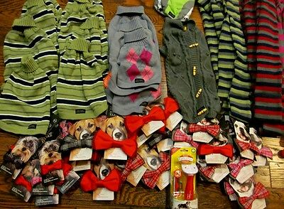 WHOLESALE LOT **97** DOG PET items sweaters jackets bowties toys leashes +++ NEW