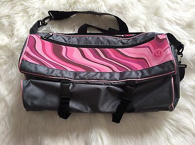 Grey Pink Lululemon Gym Yoga Mat Bag *Flaw*